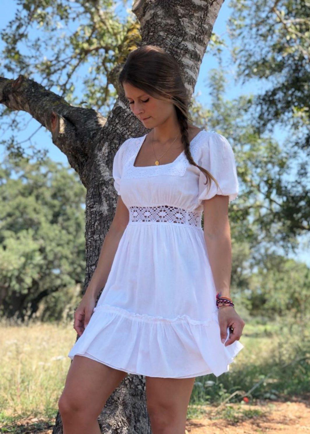 Vestido ibicenco blanco Adlib Mia