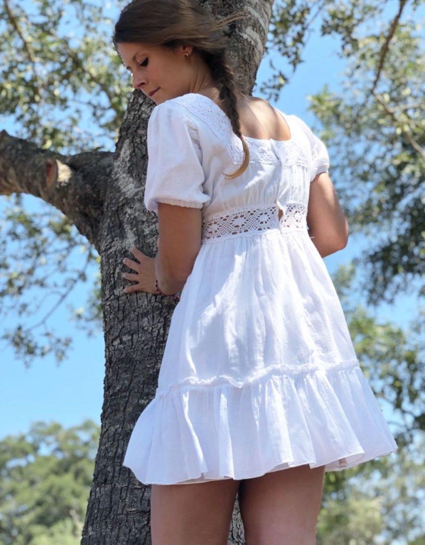Vestido ibicenco blanco Adlib Mia2